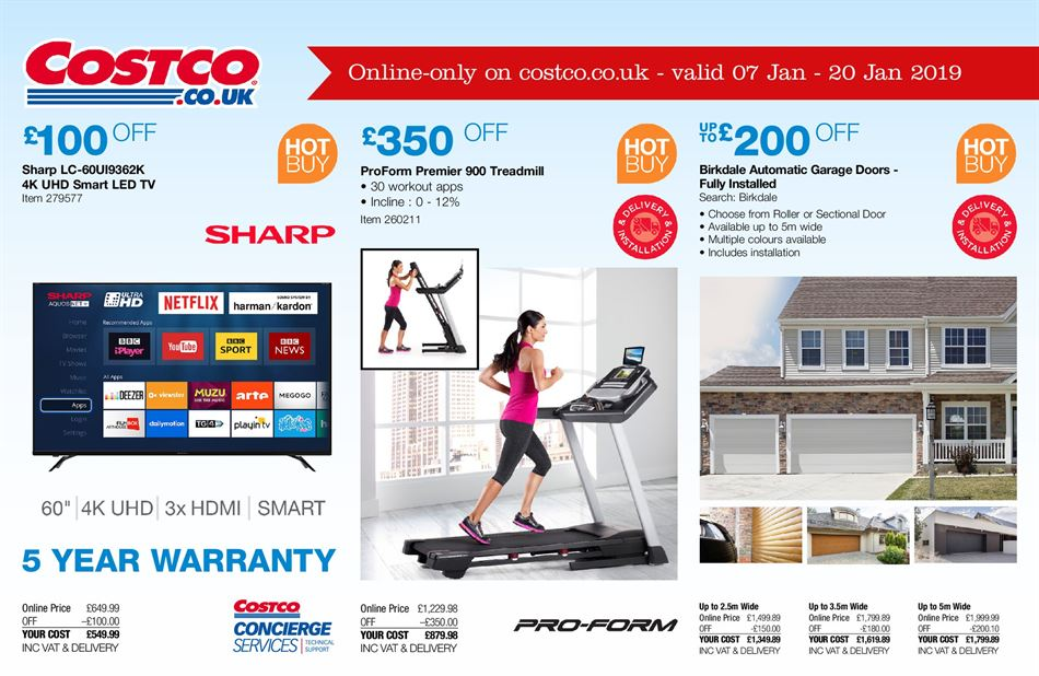 Costco Offers 7th January 7th February 2019