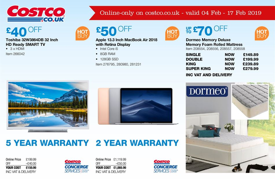 Costco Offers 8th February 17th February 2019