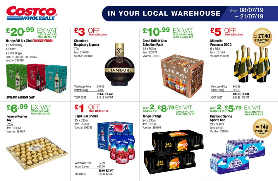 Costco Offers 9th July 21st July 2019