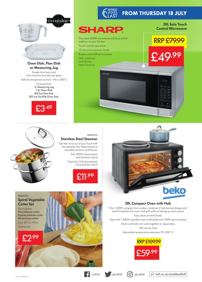 Lidl Offers 18th July 24th July 2019