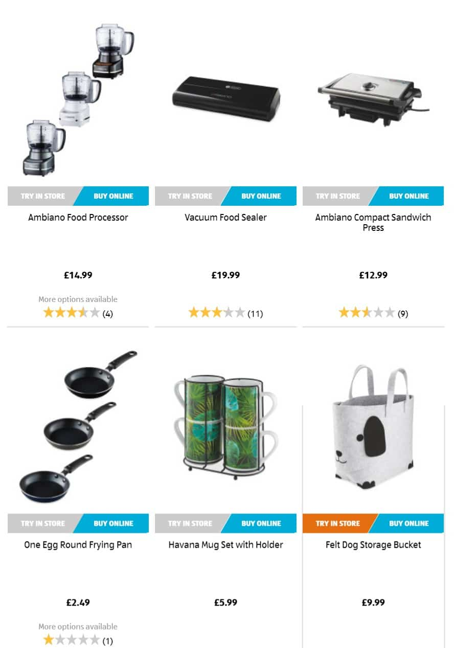 Aldi Special Buys 29th August 2019