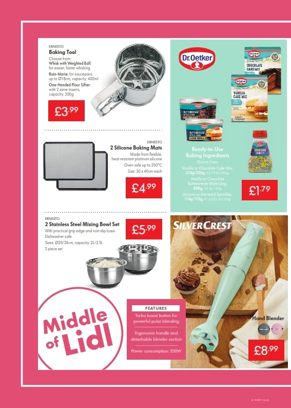 Lidl Offers 29th August 4th September 2019